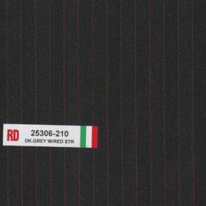 RD 25306-210 Dark Grey With Red Stripe