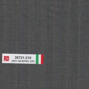 RD 26721-210 Grey Hb With Purple Stripe