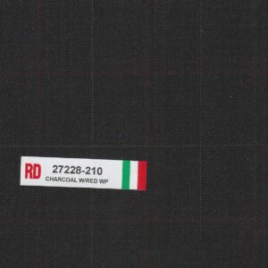 RD 27228-210 Charcoal With Red Wpane